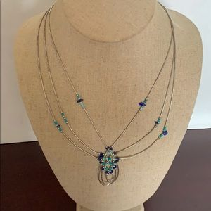 Necklace sterling silver and authentic turquoise